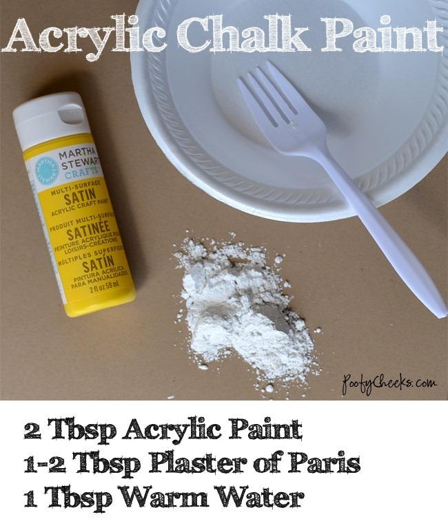 Acrylic Chalk Paint Recipe