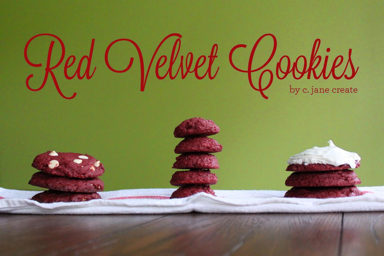 Red Velvet Cookies by c. jane create