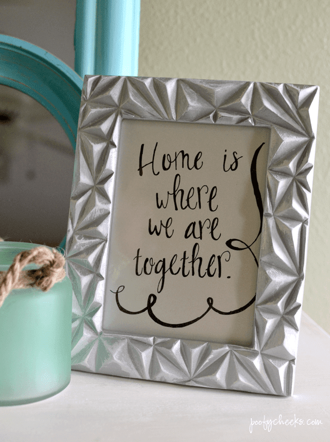 Budget DIY Home Decor Projects - projects to make a house a home when on a budget.