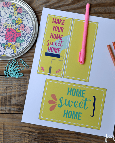 Housewarming Bucket Gift Idea and Printable Gift Tag