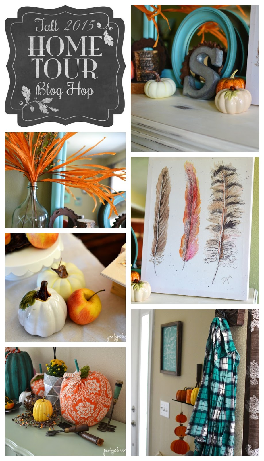 Aqua and Orange Fall Home Tour + Blog Hop