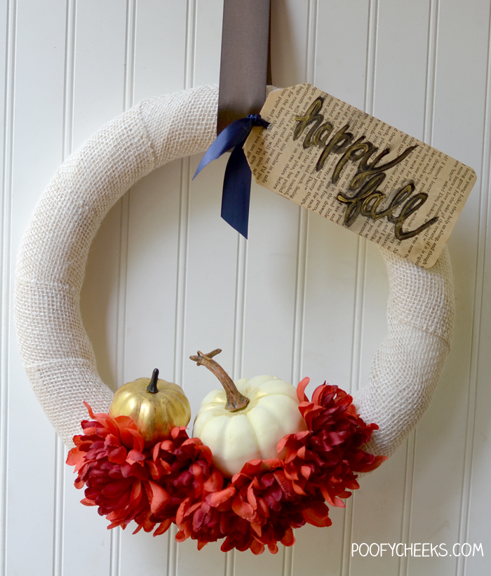 Simple Elegant Burlap Fall Wreath