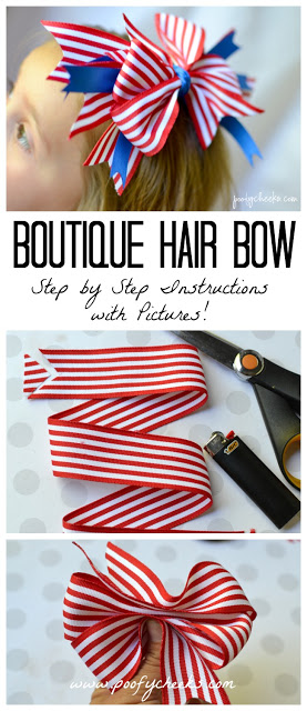 Hair Bow Tutorial with Step by Step Instructions and Pictures