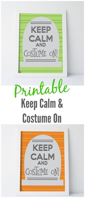 Printable: Keep Calm and Costume On