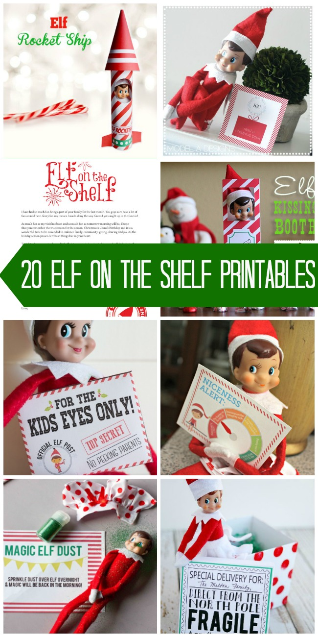 image about Free Elf Printable named 20+ Totally free Elf upon the Shelf Printables - Poofy Cheeks
