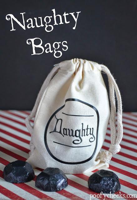 Christmas Naughty Bag of Coal