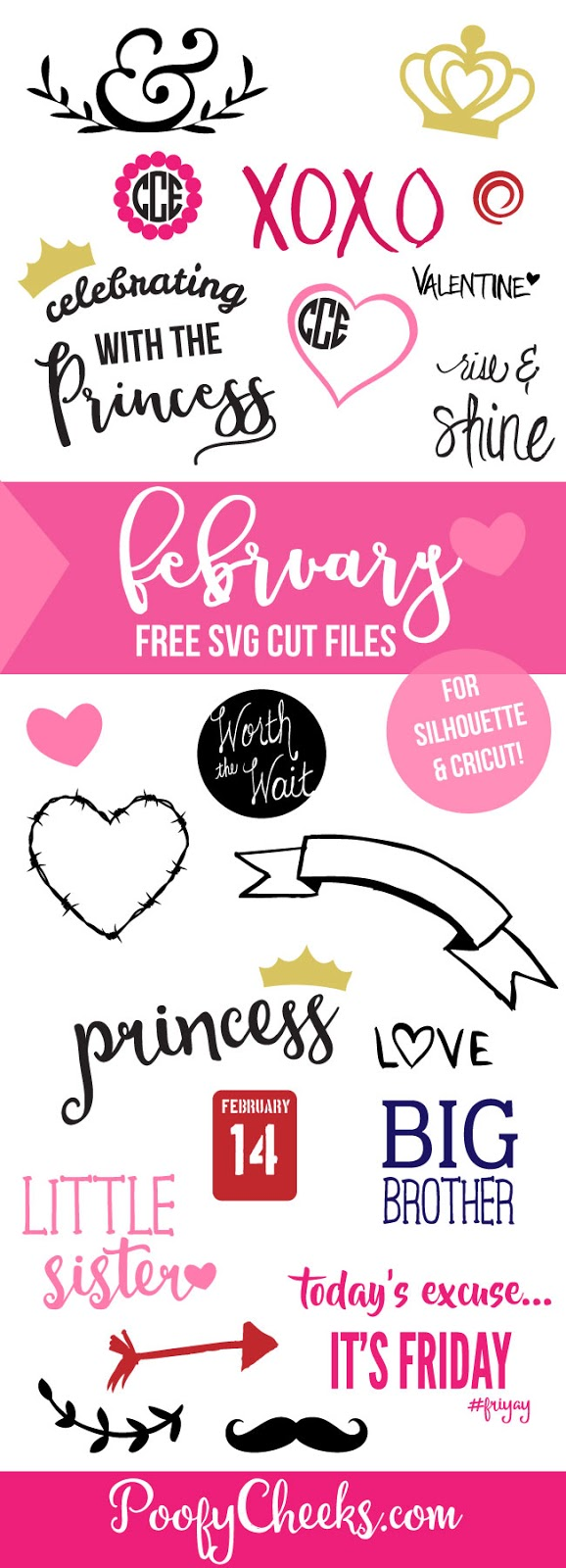 February Feebies – Free Cut Files for Silhouette and Cameo