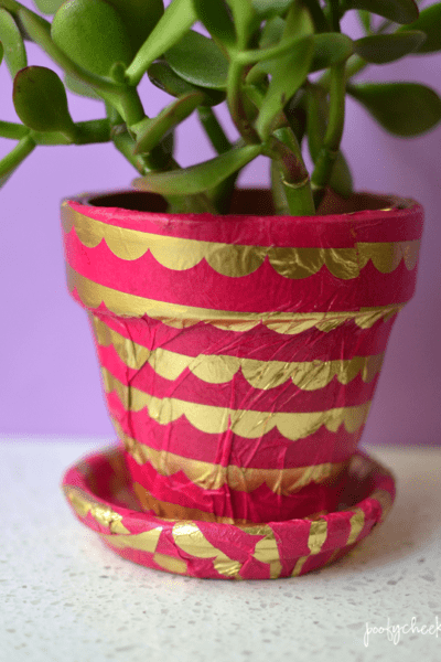 Decorated Terra Cotta Flower Pot Planter