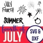 Fourth of July Cut Files for Silhouette and Cricut users.