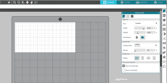 silhouette academy - adjusting mat and page size