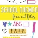 FREE school themed cut files