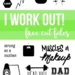 Fitness SVG and DXF files