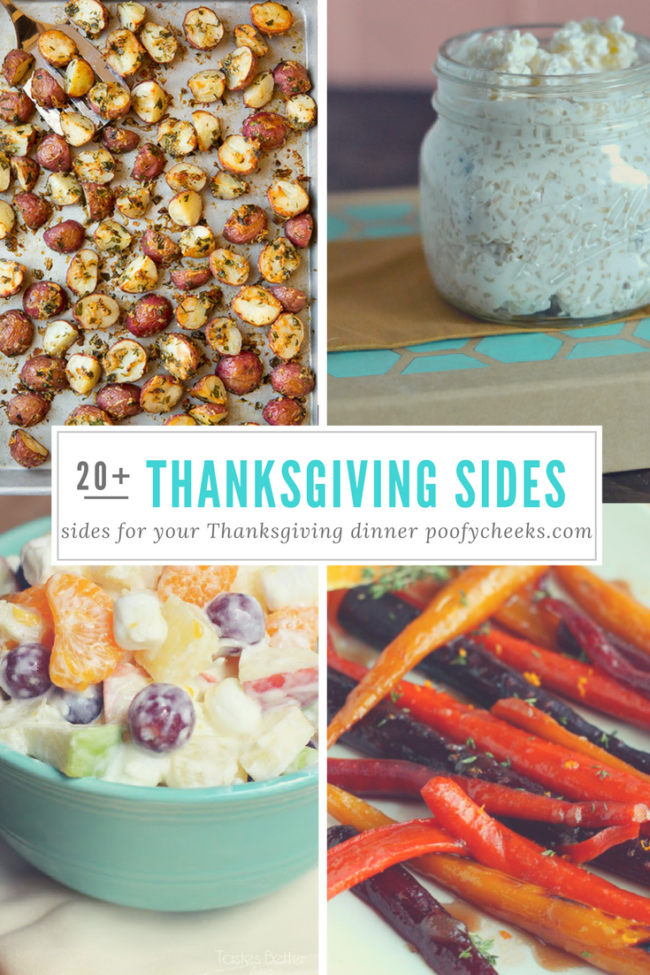 Over 20 Thanksgiving side dish recipes to serve with your Turkey.