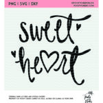 Sweet Heart Cut File
