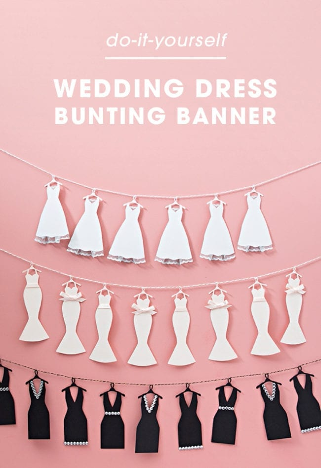 Wedding Dress Bunting Banner
