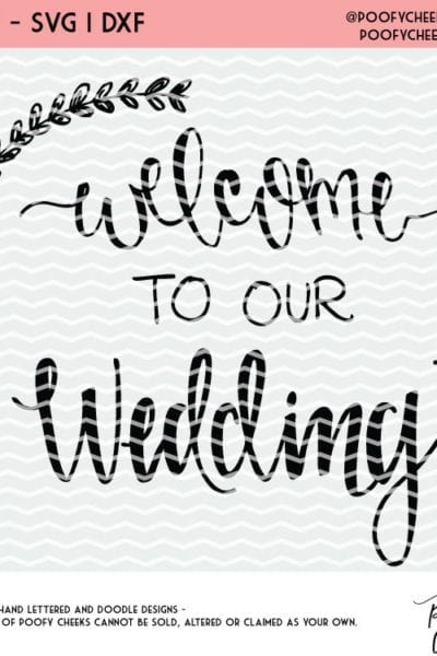 Wedding Cut Files – Free Cut Files for Silhouette and Cricut Machines – DXF and SVG files