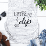 Chips and Dip Cut File - get the free cut file for Silhouette and Cricut machines. Free Cricut Designs and Free Silhouette Designs on poofycheeks.com