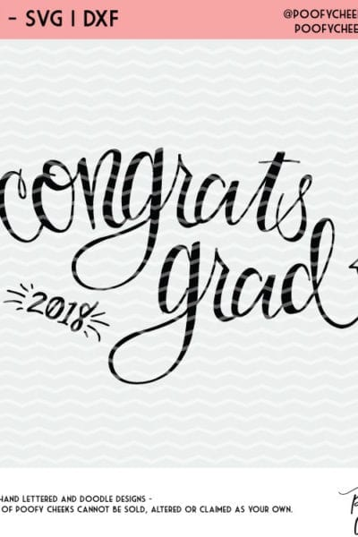 Congrats Grad Free Graduation Cut File – SVG, DXF, PNG – Use with Silhouette and Cricut