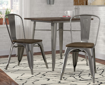 Farmhouse Dining Chairs - metal dining chairs that go perfectly with farmhouse dining decor.