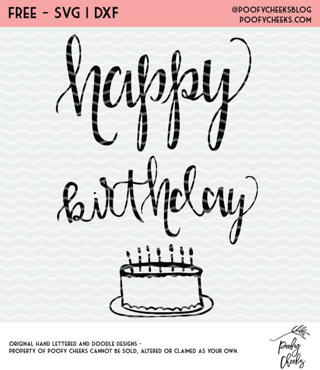 Happy Birthday Cut File Free Cut File For Silhouette And Cricut