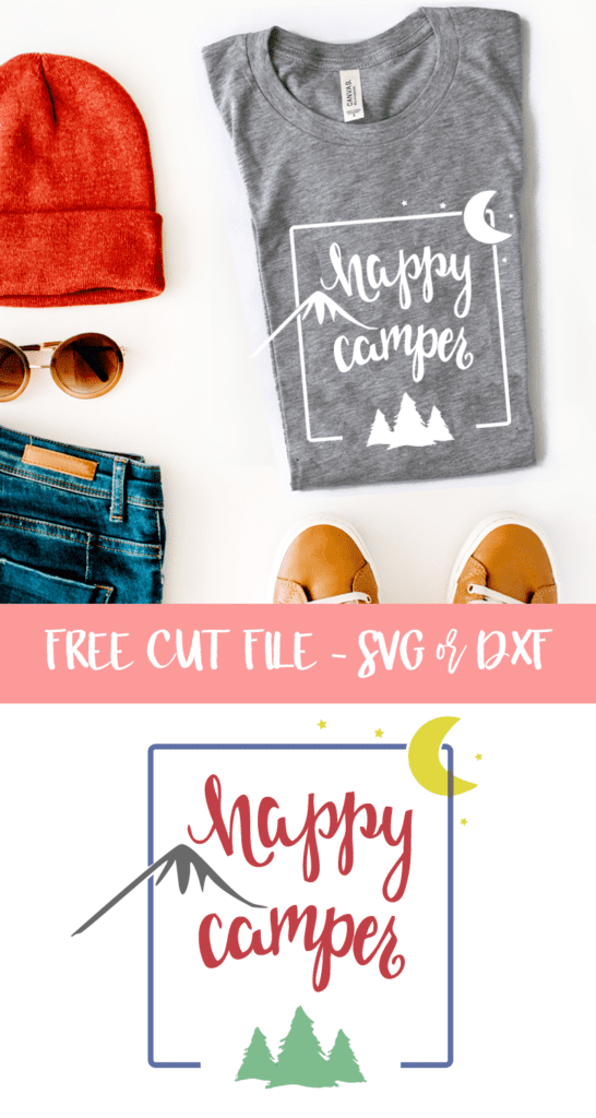 Camping Cut File For Silhouette And Cricut Free Svg And Free Dxf File Poofy Cheeks