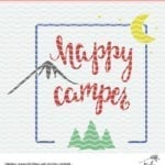 Free Happy Camper Cut File - Use with Silhouette Cameo or Cricut machines.