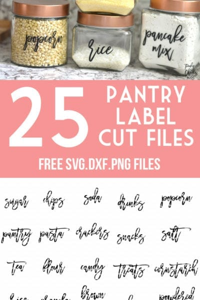 20+ Pantry Label Cut Files – SVG, DXF and PNG files for Silhouette and Cricut – Organize your Pantry