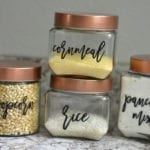 Pantry Labels - free cut files for Silhouette and Cricut. Get your pantry organized.