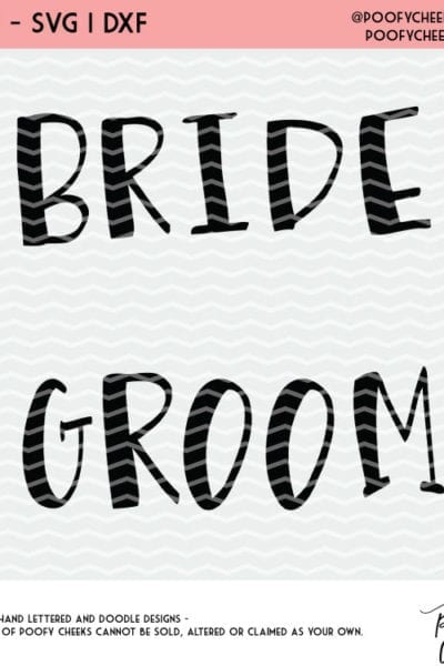 Bride and Groom Cut File – Silhouette and Cricut Cut Files – SVG, PNG, DXF format – Free Cut Files for Cutting Machines