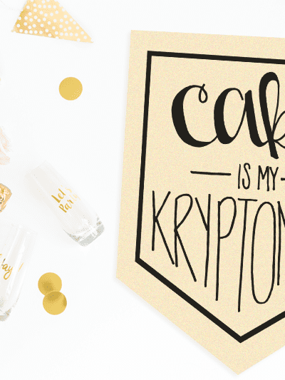 Cake is my Kryptonite Cut File Freebie –  SVG | PNG | DXF Cut File – Silhouette and Cricut