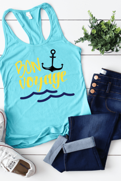 Summer Vacation Bon Voyage Cut File – Cut File for Cricut – Cut File for Silhouette – PNG, DXF and SVG