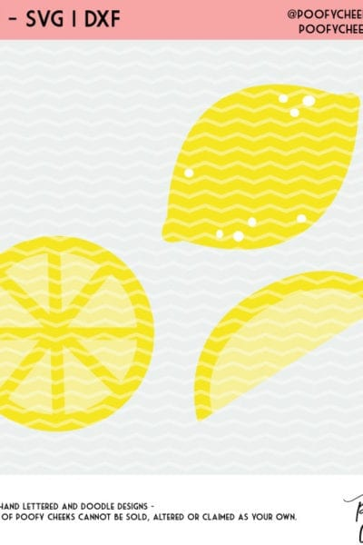 Lemon Cut File Freebie – For Silhouette Cameo and Cricut – SVG, DXF and PNG