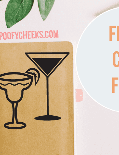 Cocktails Cut File – Silhouette and Cricut Cut Files – SVG, DXF and PNG