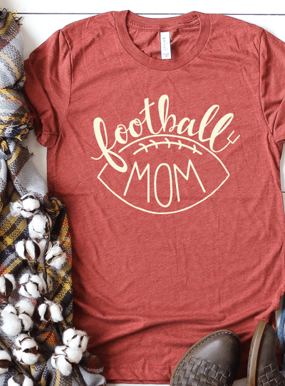 Football Mom Cut File – Silhouette and Cricut Design – DXF, SVG and PNG