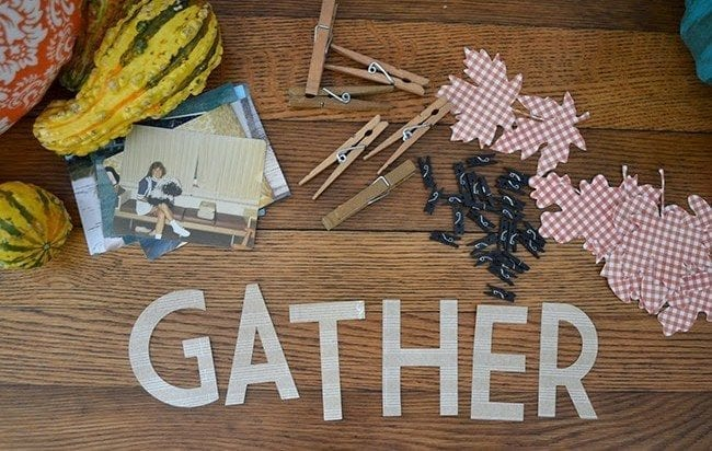 DIY Gather photo banner for Fall.