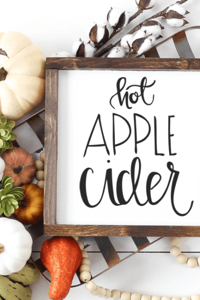 Hot Apple Cider Cut File – Silhouette and Cricut – DXF, SVG and PNG Files