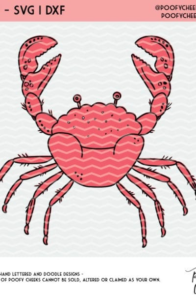 Free Crab Cut File – SVG, DXF, PNG Files