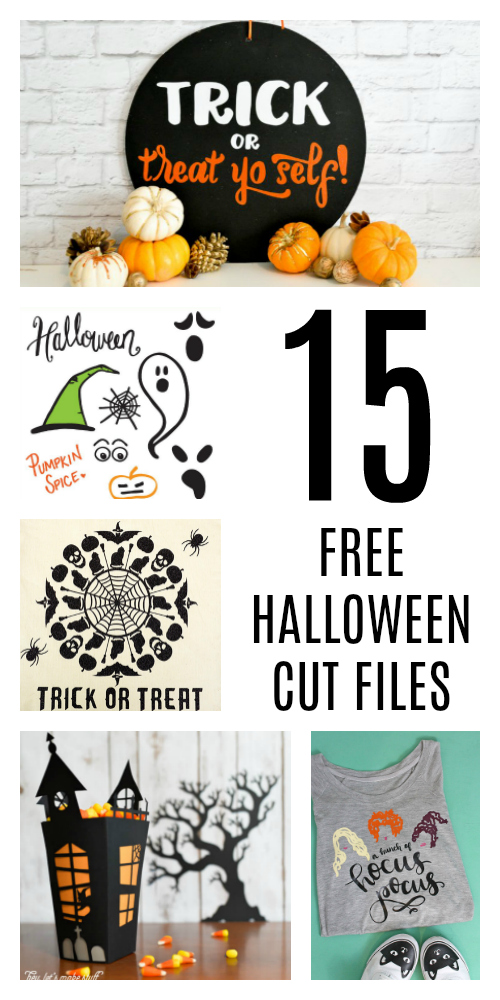 15 Free Halloween Cut Files for Cricut and Silhouette machines. #halloween #cutfiles #silhouette #cricut