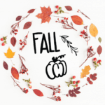 Fall Cut Files - Fall hand lettering, pumpkin, leaves. Free cut file. #cutfile #fall