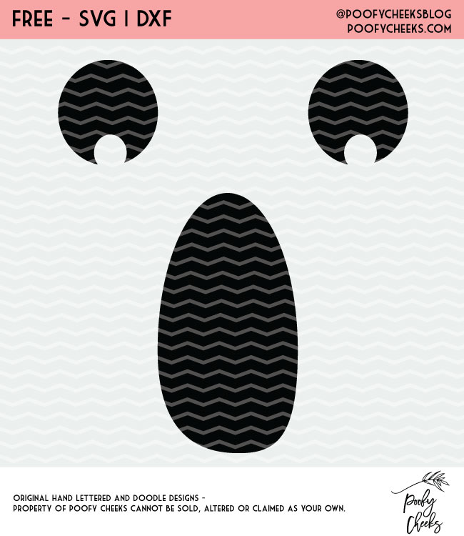 Ghost Face Halloween cut files for Silhouette and Cricut cutting machines. 3 free Halloween cut files.