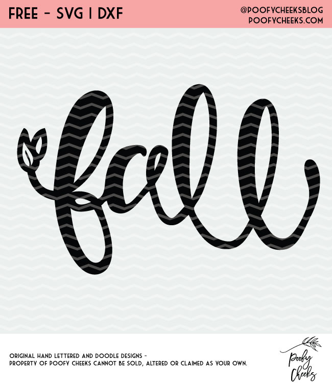 Fall Cut Files - Fall hand lettering, pumpkin, leaves. Free cut file. #cutfile #fall