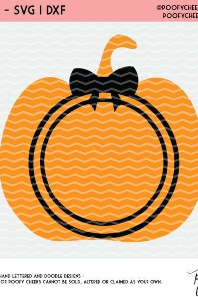 Free Halloween Pumpkin Cut File – Silhouette and Cricut – SVG, DXF and PNG