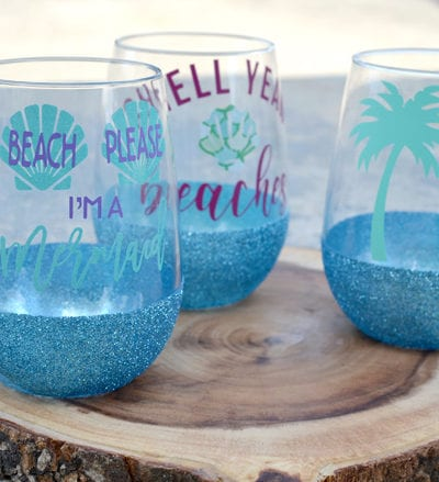 DIY Glitter Dipped Glasses – Dishwasher Safe Glitter Cup