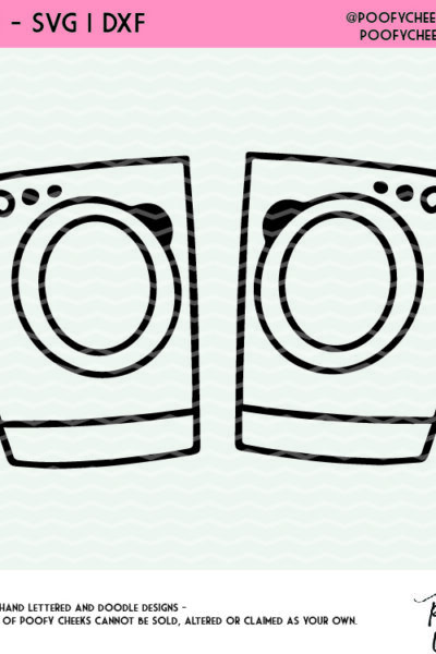 Washer and Dryer Cut File – For Cricut and Silhouette – DXF, SVG and PNG