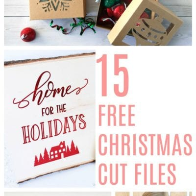 15 Free Christmas Cut Files - Use with Silhouette and Cricut cutting machines.