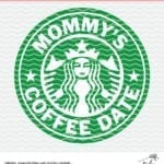 Mommy's Coffee Date cut file for Silhouette and Cricut. Starbucks inspired design perfect for a baby onesie or sippy cup.
