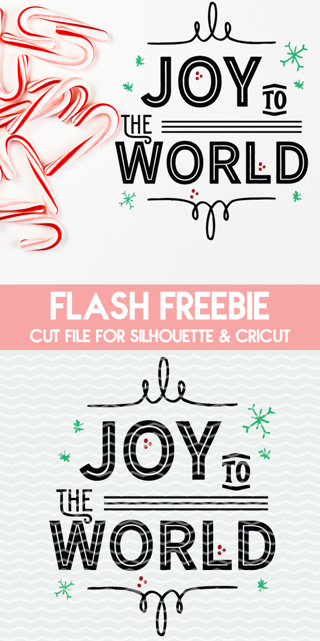 Joy to the World cut file for Silhouette and Cricut cutting machines. Instant email with DXF, PNG and SVG file ready to use.