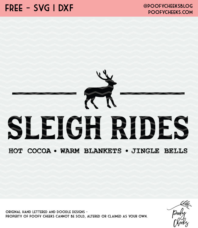Sleigh Rides flash freebie cut file. Christmas cut file for Cricut and Silhouette.