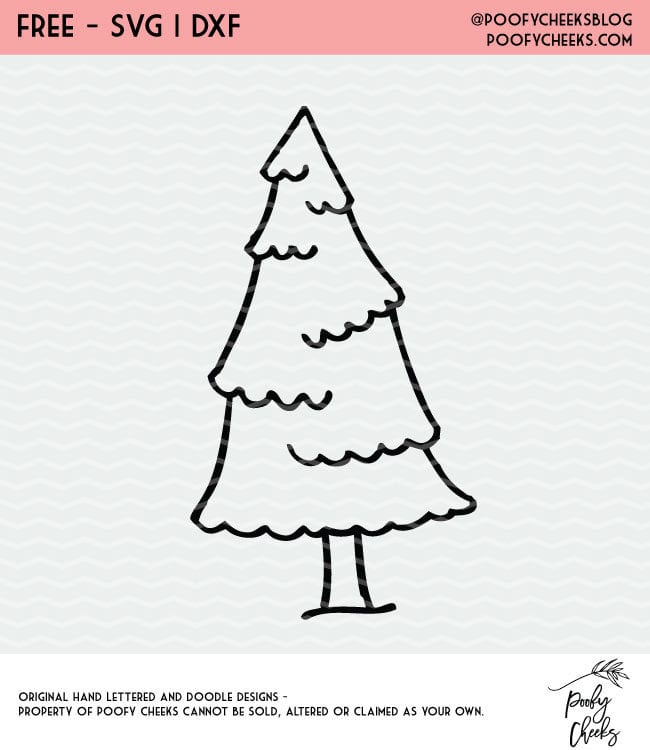 Free Christmas Tree Cut File for Silhouette and Cricut machine users. Get the PNG, DXF and SVG in a zip folder.