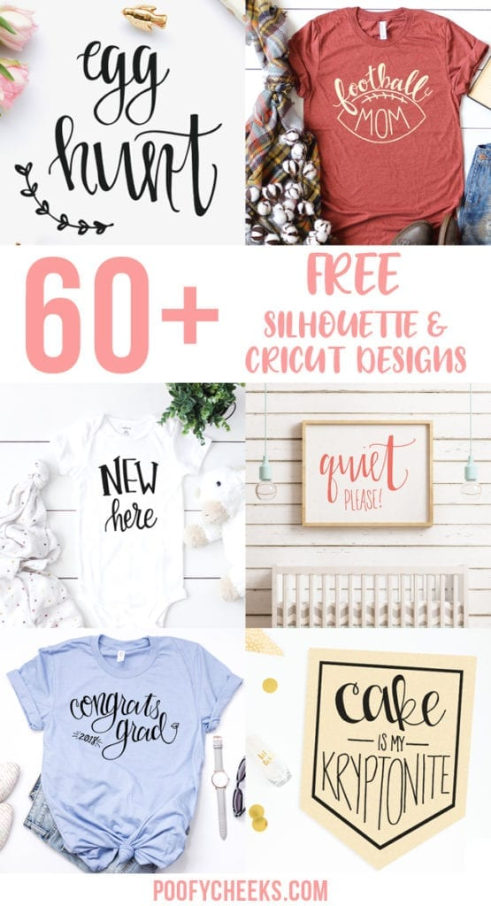 60 Free Silhouette and Cricut Designs from Poofycheeks.com